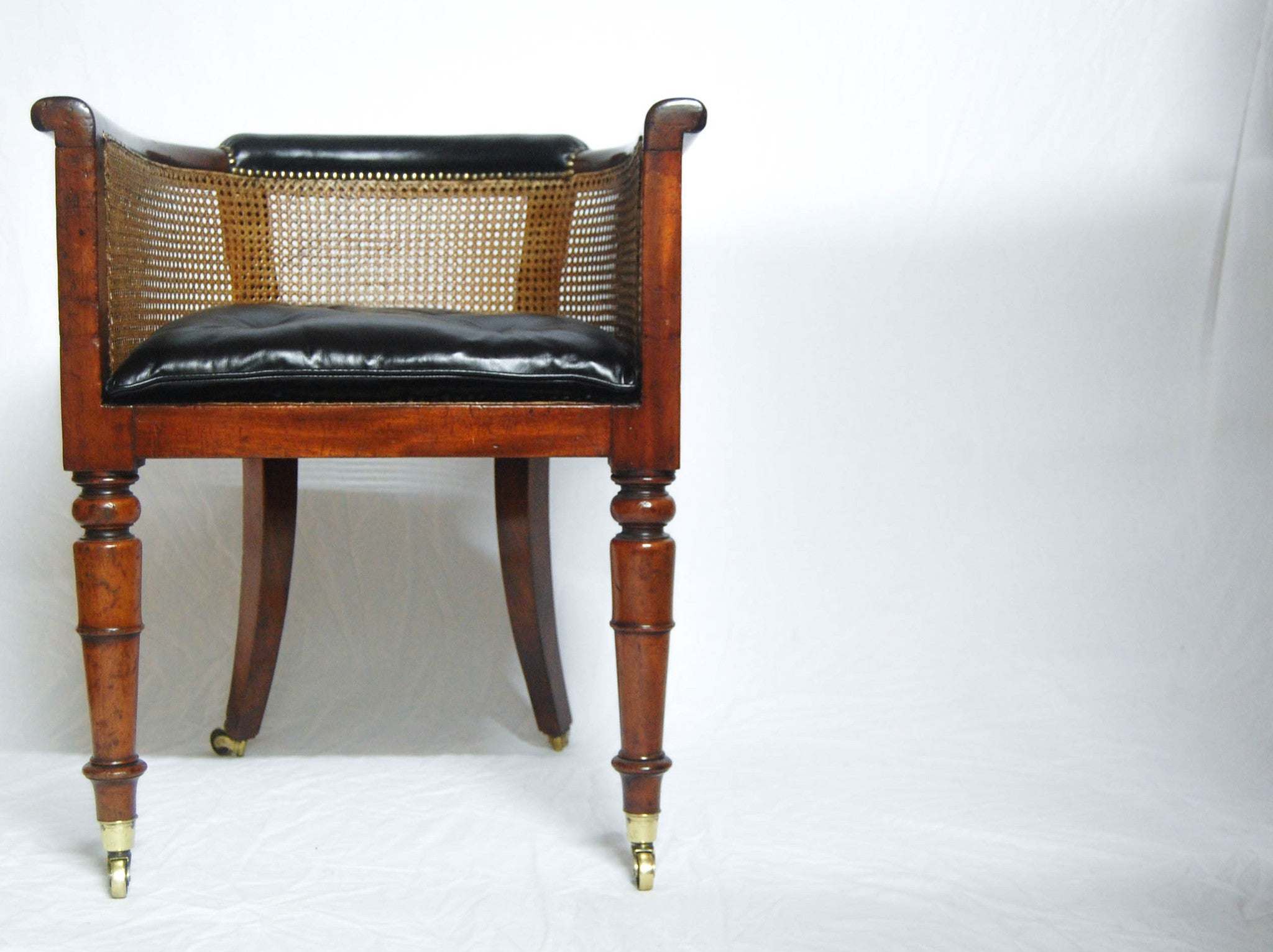 Regency Mahogany Caned Library Tub Chair Or Desk Chair By Miles Amp Edwa Jason Clarke