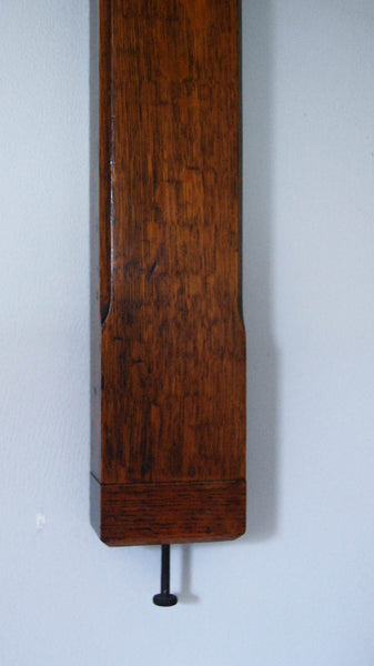 Late Victorian Oak Miner's or Pit Head Stick Barometer by Negretti & Zambra