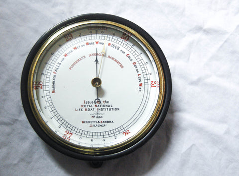 Late Victorian RNLI Fisherman's Aneroid Barometer by Negretti & Zambra, London