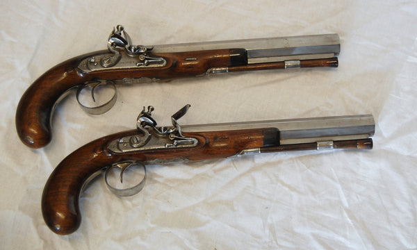Pair of Early Nineteenth Century Flintlock Duelling Pistols by Charles Moore London