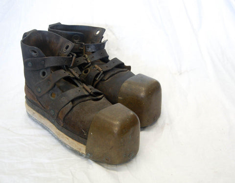 Early Twentieth Century Pair of Siebe Gorman Diving Boots
