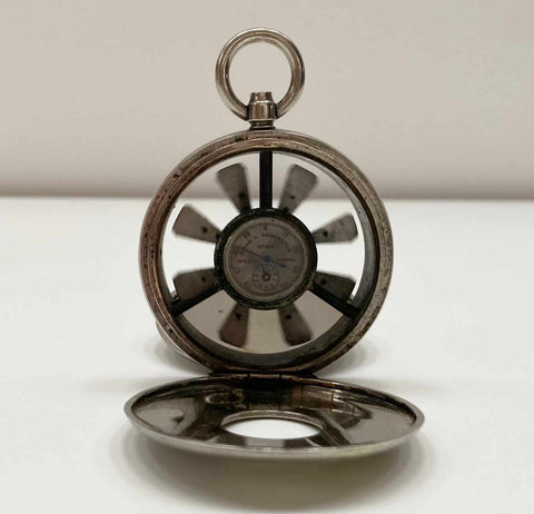 Victorian Miniature Pocket Watch Biram's Anemometer by Wood of Liverpool