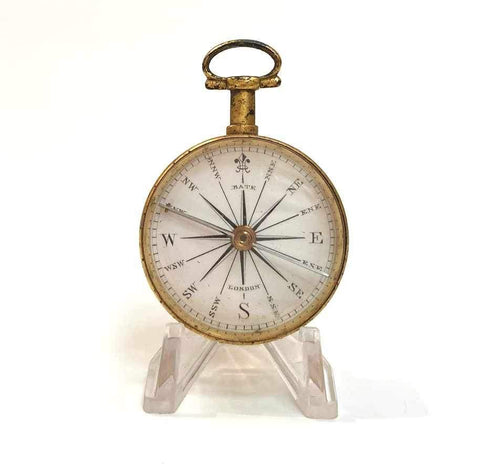 Early Nineteenth Century Gilt Pocket Compass by Robert Brettel Bate London