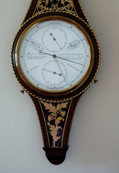 Aneroid Wheel Barometer to Commemorate The Marriage of Charles & Diana by Comitti & Garrard