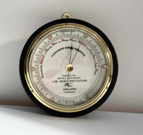 Victorian RNLI Fishermans Aneroid Barometer by Dollond London