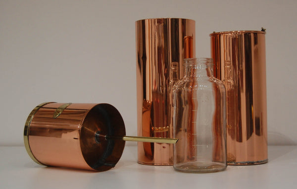 Edwardian Snowdon Pattern Copper Rain Gauge by Negretti & Zambra