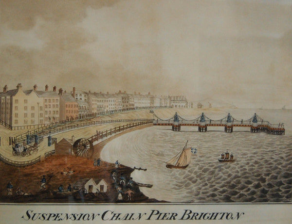Regency Period Painting of the Suspension Chain Pier at Brighton