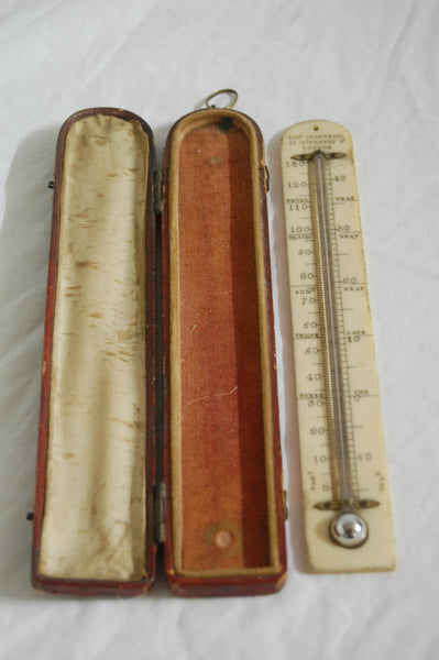 Regency Period Cased Mercury Fahrenheit Thermometer by Thomas Rubergall, 27 Coventry St, London