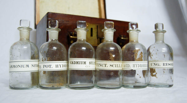 Victorian Military Campaign Ammunition Chemistry Set with Royal Laboratory stamps for 1882 - Royal Arsenal