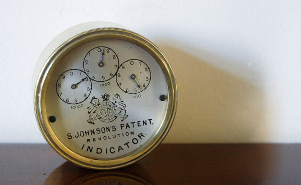 Victorian S Johnson's Patent Revolution Indicator or Odometer