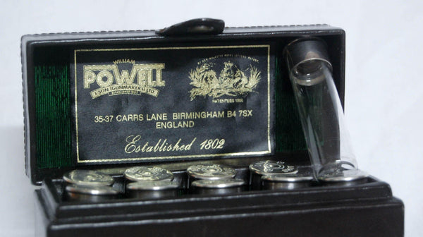Cased Set of Silver Hallmarked Shooting Place Markers by William Powell & Son, Birmingham