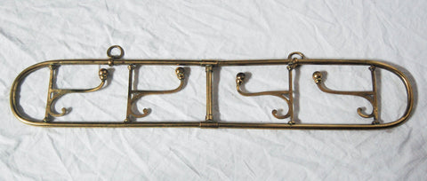 Victorian Brass Campaign Hanging Rack or Portable Coat Hooks
