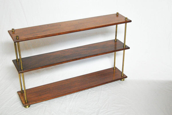 A Set of Victorian Mahogany & Brass Campaign Bookshelves