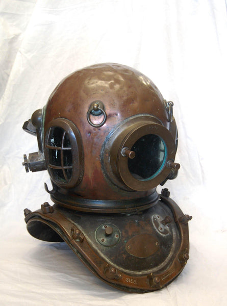 1920's Siebe Gorman & Co Ltd Twelve Bolt Diving Helmet & Corselet with Matching Serial Numbers