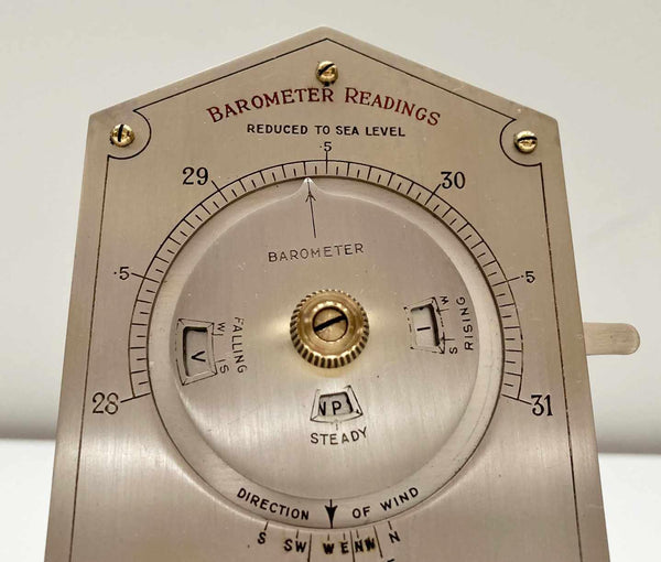 Early Twentieth Century Desktop Weather Forecaster by Negretti & Zambra London