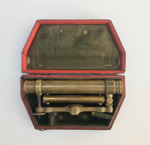 Eighteenth Century Cased Surveyors Level Attributed to Benjamin Martin