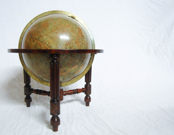 Rare Twelve Inch Tabletop Celestial Globe on Stand by Thomas Malby & Co