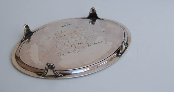 Napoleonic Prize East India Company Silver Salver for the Capture of French Warship La Medee