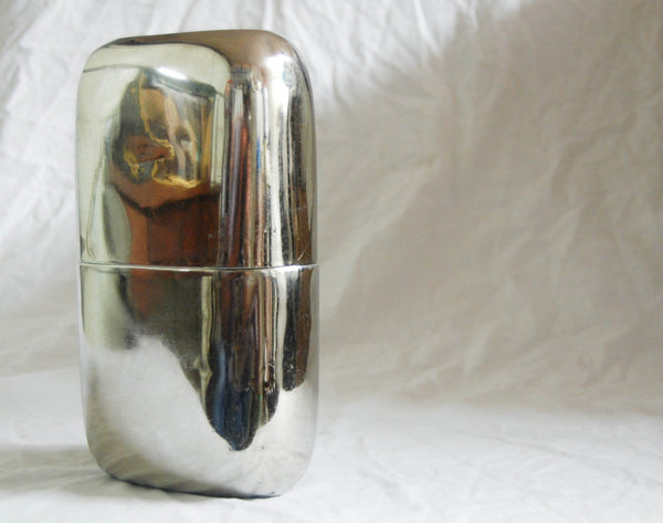 Very Large Twentieth Century Nickel Plated Hip Flask by Swaine & Adeney Ltd. London