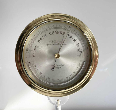 Victorian Aneroid Barometer by CW Dixey of Bond Street London