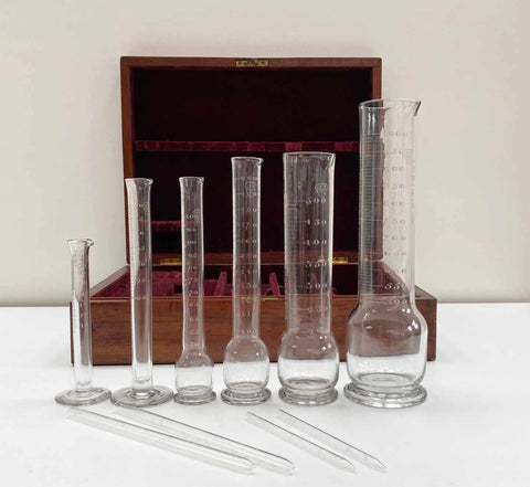 Victorian Set of London County Glass Measures by The York Glass Co Ltd