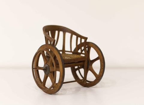 Cased Mid Victorian Miniature Saleman's Sample Wheelchair