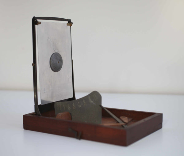 Late Victorian Swinging Plate Anemometer by AW Gamage Ltd London