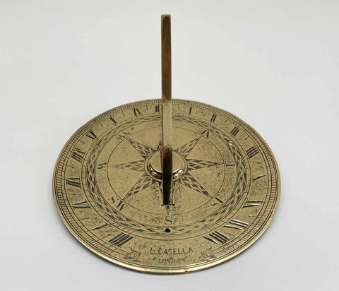Mid Victorian Seven Inch Sun Dial by Louis Casella of London