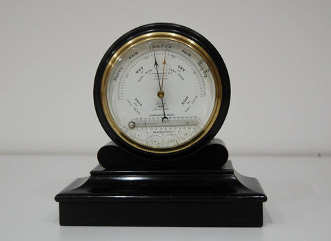 Mid Victorian Drumhead Aneroid Barometer by M Aronsberg & Co Liverpool