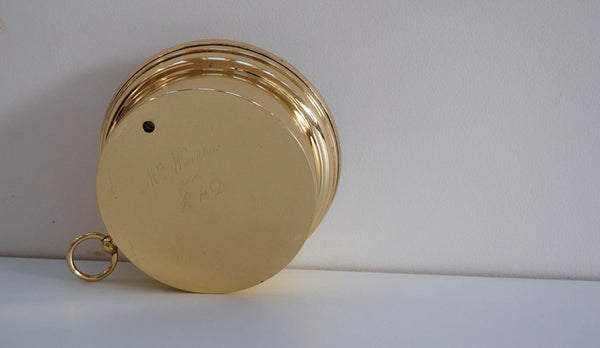 Mid-Victorian Brass Cased Aneroid Barometer by Adie & son Edinburgh