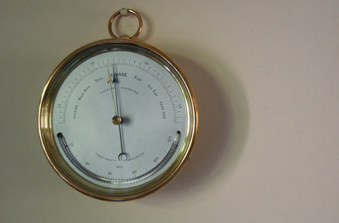 Victorian Early Vidie Style Brass Cased Aneroid Barometer by Dubois & Casse, France