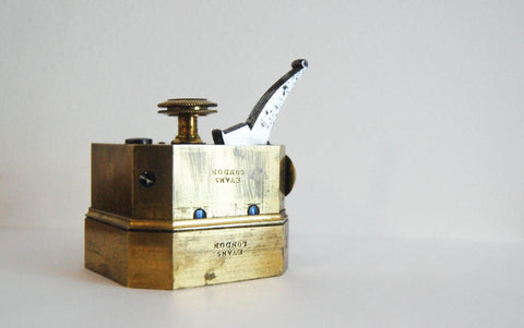 Early Nineteenth Century Brass Octagonal Twelve Blade Medical Scarificator by Evans London