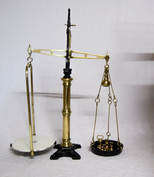 Set of Victorian Dairy Beam Scales by W&T Avery with Brass Weights