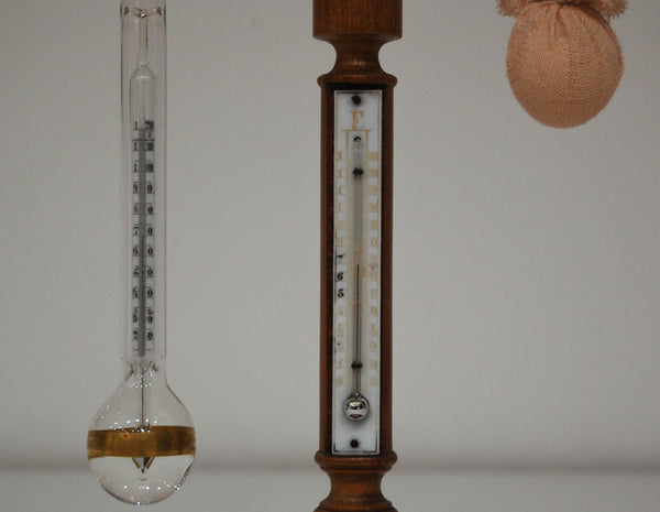 Late Victorian Daniell's Hygrometer on Boxwood Stand