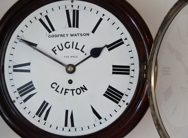 Late Victorian Fusee Dial Clock by Godfrey Watson Fugill of Clifton The Mall, Bristol
