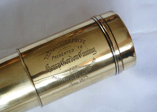 Mid-Victorian Single Draw Day & Night Presentation Telescope by J, Sewill of Liverpool & London
