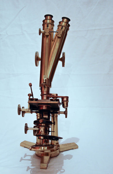 "Victorian Cased ""Large & Best"" Achromatic Binocular Microscope by R&J Beck London"