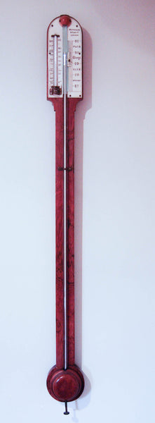 Mid-Victorian Rosewood Stick Barometer by Newton & Co, 3 Fleet Street, London