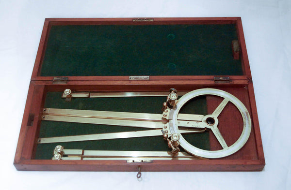 Cased Victorian Naval Station Pointer by Henry Hughes & Son of London