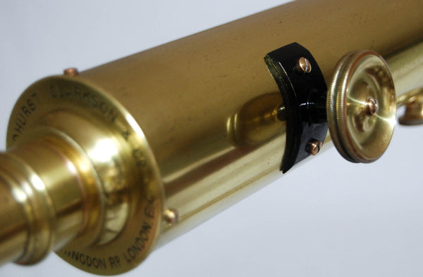 Edwardian Library Telescope on Stand by Broadhurst Clarkson & Co London
