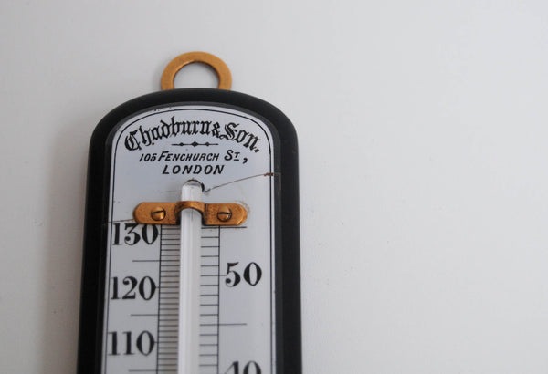 Mid-Victorian Wall Thermometer by Chadburn & Son of Fenchurch Street London