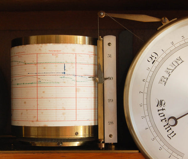 Mid-Victorian Weather Station or Self Recording Aneroid Barometer by Negretti & Zambra