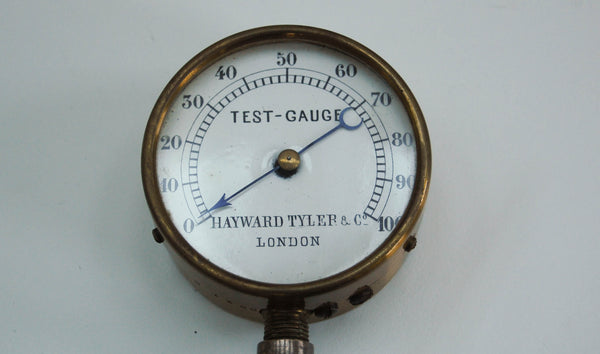 Late Victorian Cased Champagne or Soda Water Test Gauge by Hayward Tyler & Co London