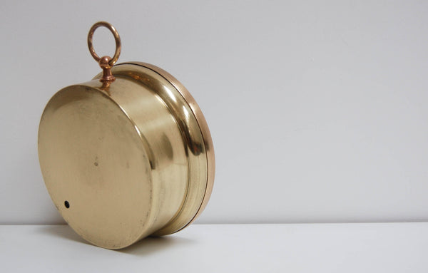 Mid-Victorian French Vidi Type Brass Cased Aneroid Barometer by Breguet Paris
