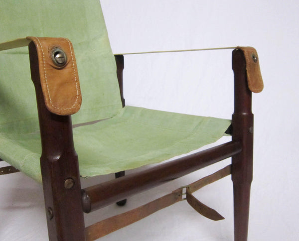 Early Twentieth Century Campaign Roorkhee Chair with Transit Bag
