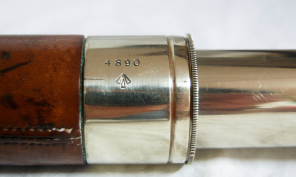 "World War I Period Nickel Plated ""Officers of the Watch"" Naval Telescope by T. Cooke & Sons Ltd"