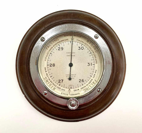Early Twentieth Century Wall Aneroid Barometer by Chadburns Ltd Liverpool