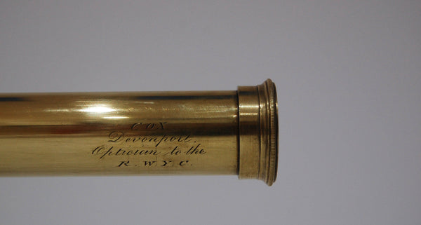William IV Three Draw Telescope by Cox of Devonport - Reginald J Cheetham Collection