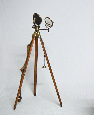A World War II Period Mark V Military Heliograph with Original Case & Tripod