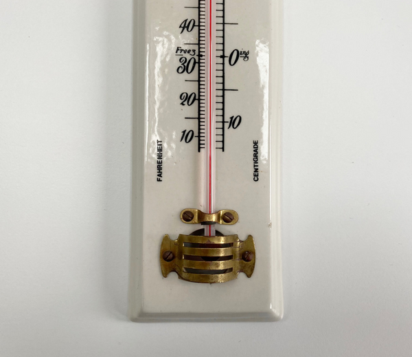 White Porcelain Wall Thermometer by Negretti & Zambra of London